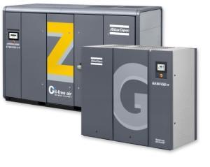 Pair of Atlas Copco air compressors
