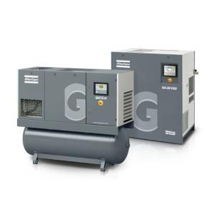 Pair of Atlas Copco GA 11-30 oil injected rotary screw air compressors