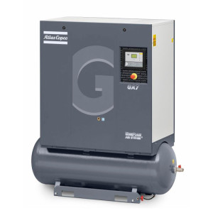 Angled product image of Atlas Copco GA 5-11 Oil-injected Rotary Screw Compressor
